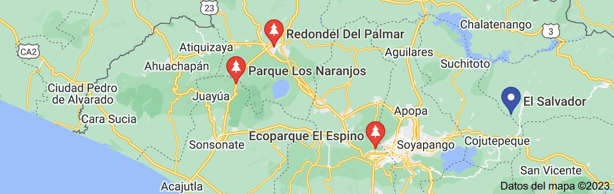 Mapa de parque los naranjos el salvador